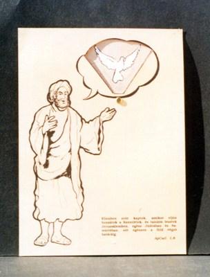 Péter Jézusról tanít - forgatós síkmakett