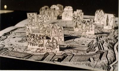 Húsvéti történet - várostérkép, térmakett