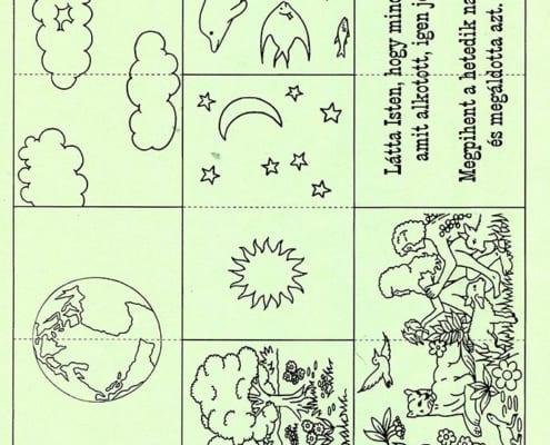 Teremtés könyvecske - harmonikakönyv