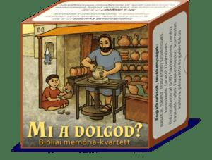 Mi a dolgod? - memória-kvartett játék
