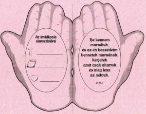 Imádkozó kéz - síkmakett