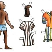 József ruhái - öltöztetős síkmakett